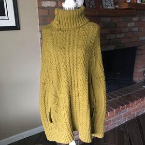 Anthropologie Fiets Voor 2 Cocoon Poncho Sweater